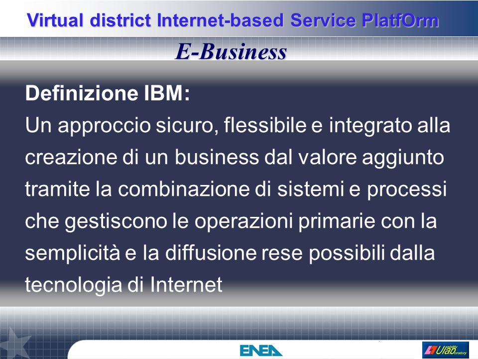 Virtual district Internet-based Service PlatfOrm Go inside: VC HOST This is a VC provider machine.
