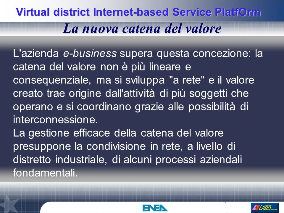 Virtual district Internet-based Service PlatfOrm Global Scenario WEB Cyber Enterprise DATABASE Catalogo Doc.