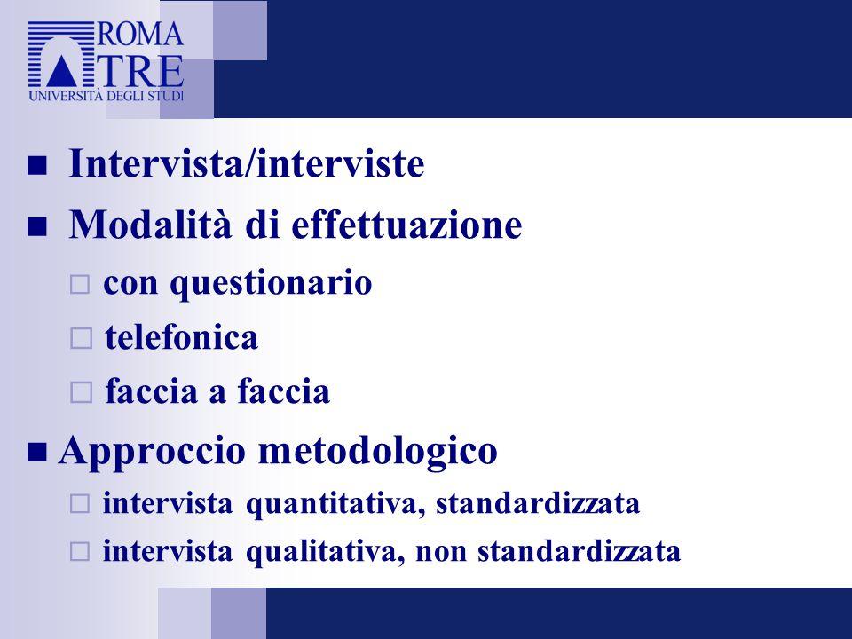 Funzione  conoscitiva  terapeutica (intervista clinica, intervista non direttiva)  ma anche: selezione del personale, testare o sviluppare ipotesi,…..
