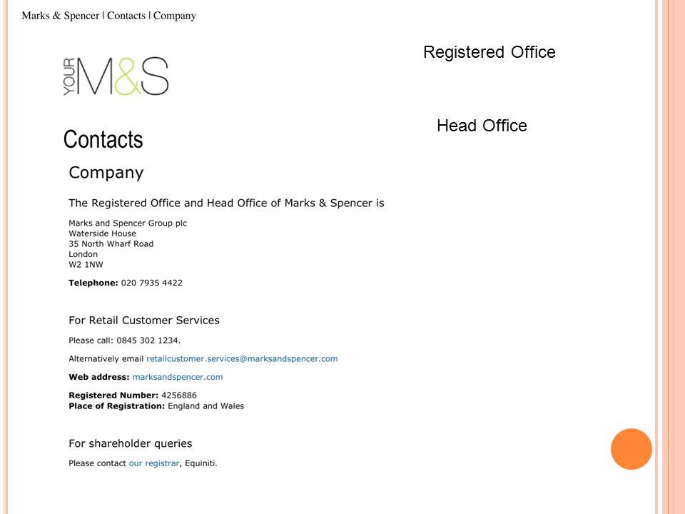 Registered Office Head Office