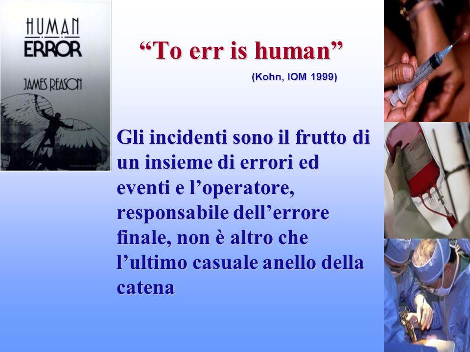 """""""To err is human"""" Gli incidenti sono il frutto di un insieme di errori ed eventi e l'operatore, responsabile dell'errore finale, non è altro che l'ult"""