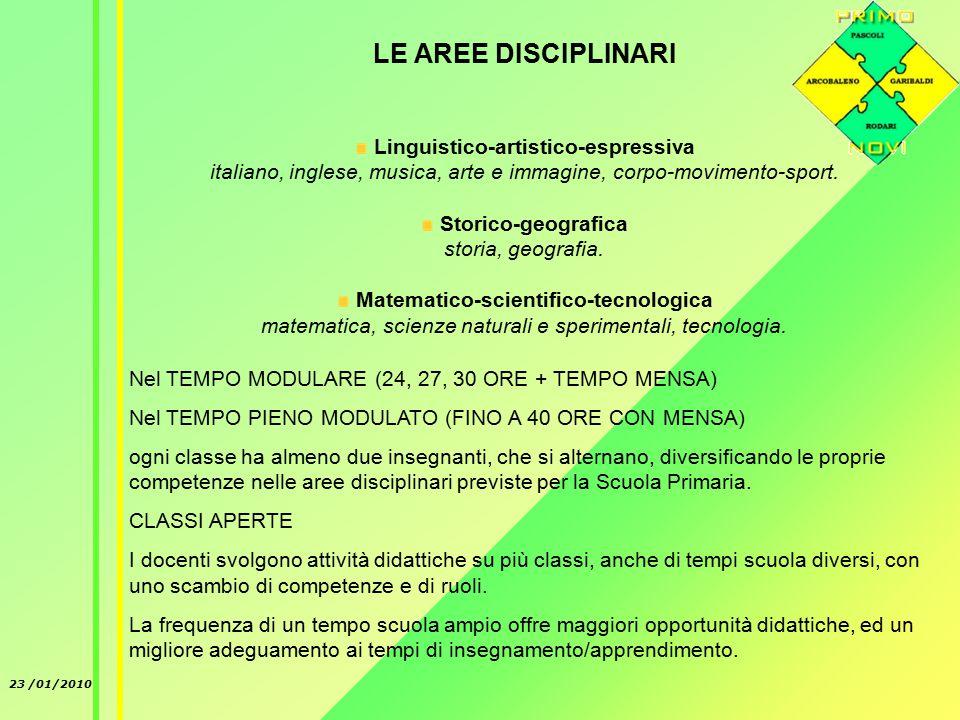 23 /01/2010 L'insegnamento della lingua inglese è affidato ad un'insegnante con specifiche competenze.