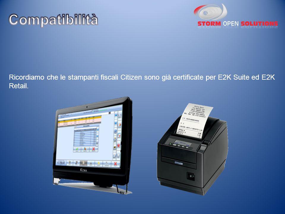 Ricordiamo che le stampanti fiscali Citizen sono già certificate per E2K Suite ed E2K Retail.