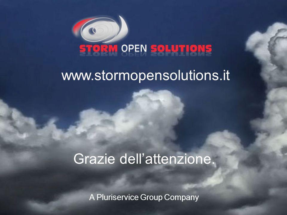 A Pluriservice Group Company www.stormopensolutions.it Grazie dell'attenzione.