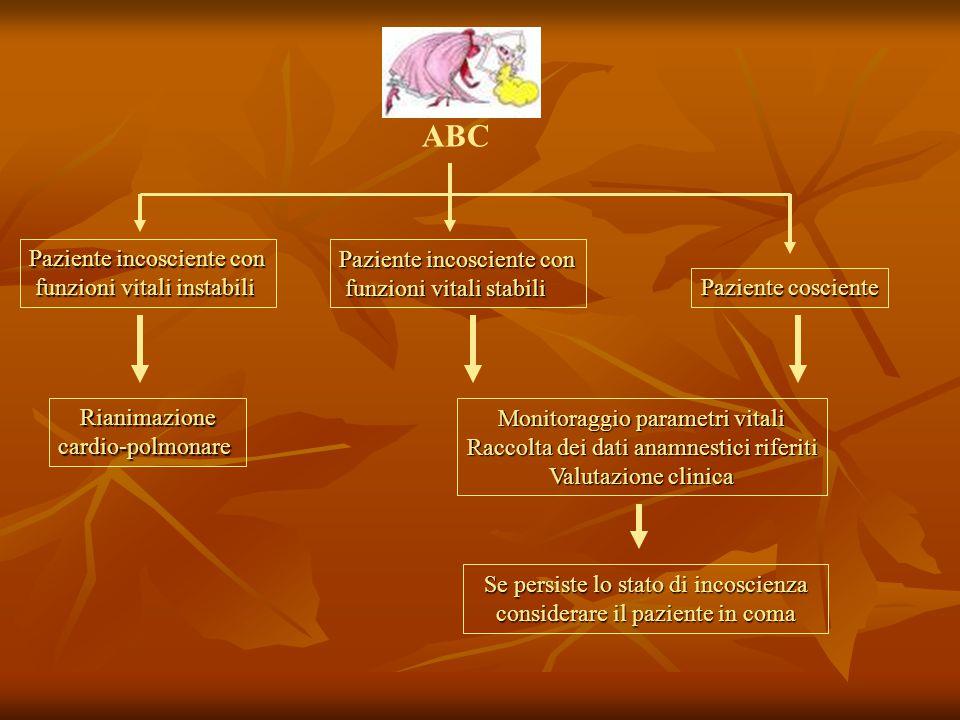 Cause di perdita di coscienza reale o apparente SINCOPALI NON SINCOPALI  neuromediata (60-80%)  Ortostatica  cerebrovascolare (6%)  cardiogena (5%)  tossicologica  metabolica  epilettica  da trauma/lesione SNC  psichiatrica (apparente) 5% vasovagale del seno carotideo del seno carotideo situazionali (spasmi affettivi) situazionali (spasmi affettivi) furto di sangue emorragia/disidratazione emorragia/disidratazione malattia cardiaca strutturale malattia del ritmo malattia del ritmo 10% SCONOSCIUTE20%
