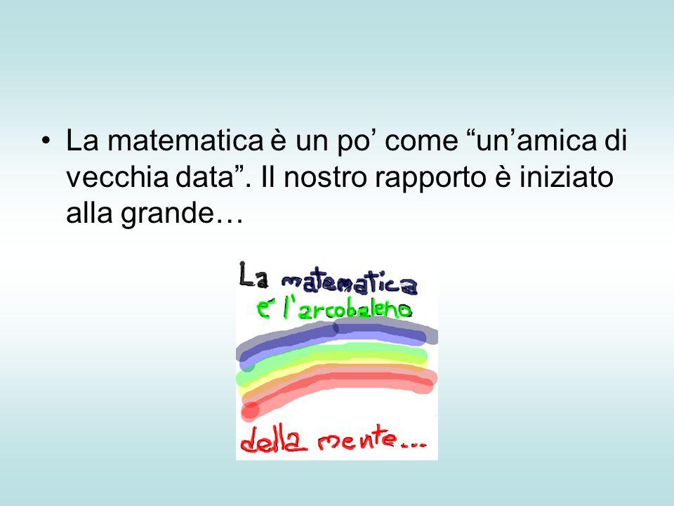 La matematica è un po' come un'amica di vecchia data . Il nostro rapporto è iniziato alla grande…