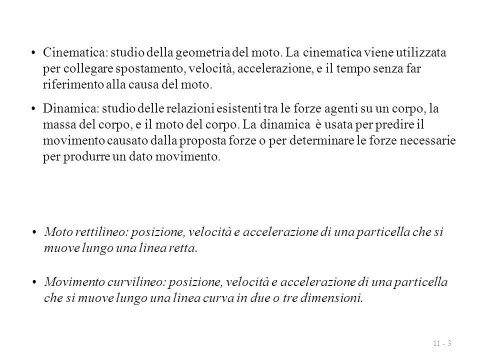 11 - 14 accellerazione in funzione della velocità, a = a(v):