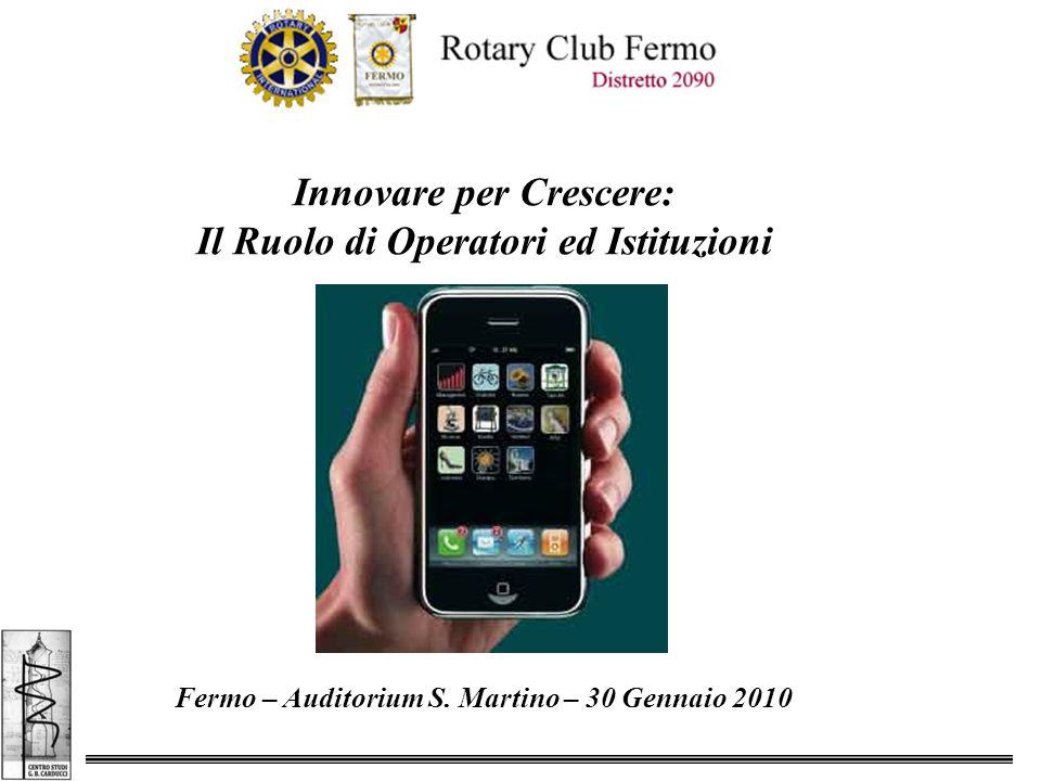 Innovare per Crescere: Il Ruolo di Operatori ed Istituzioni Fermo – Auditorium S.