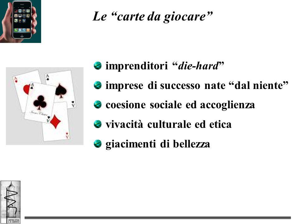 Le carte da giocare imprenditori die-hard imprese di successo nate dal niente coesione sociale ed accoglienza vivacità culturale ed etica giacimenti di bellezza