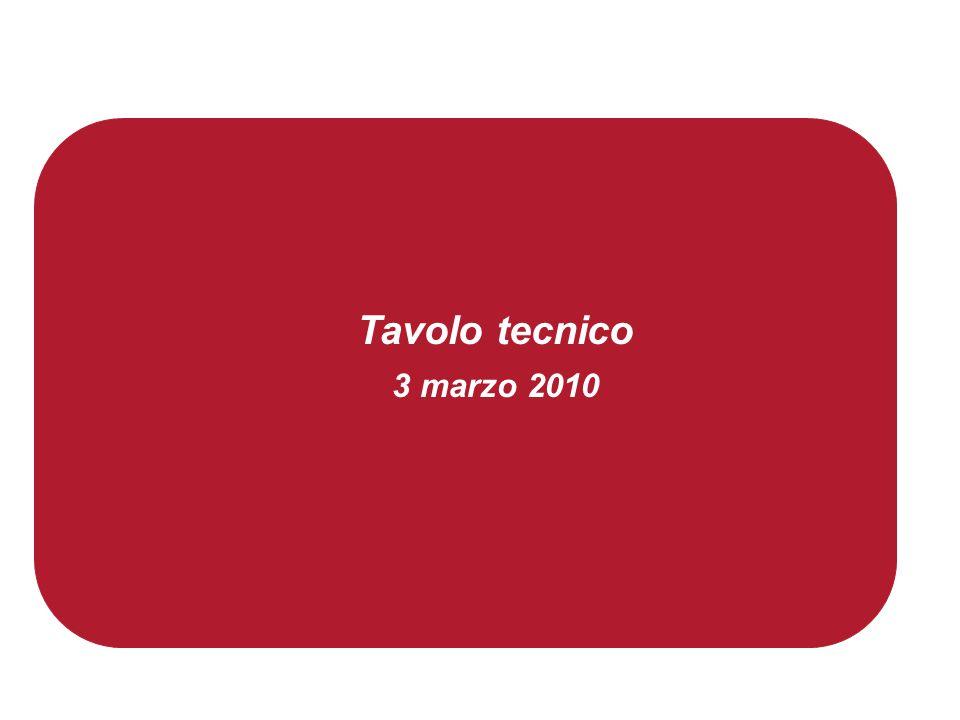 Tavolo tecnico 3 marzo 2010