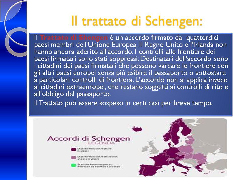 Il trattato di Schengen: