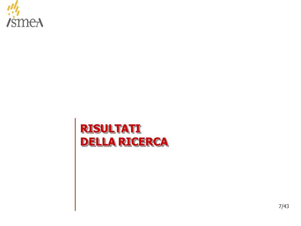 © 2005 ISMEA-Il mercato dei prodotti floricoli Job 6300 7/36 7/43 RISULTATI DELLA RICERCA