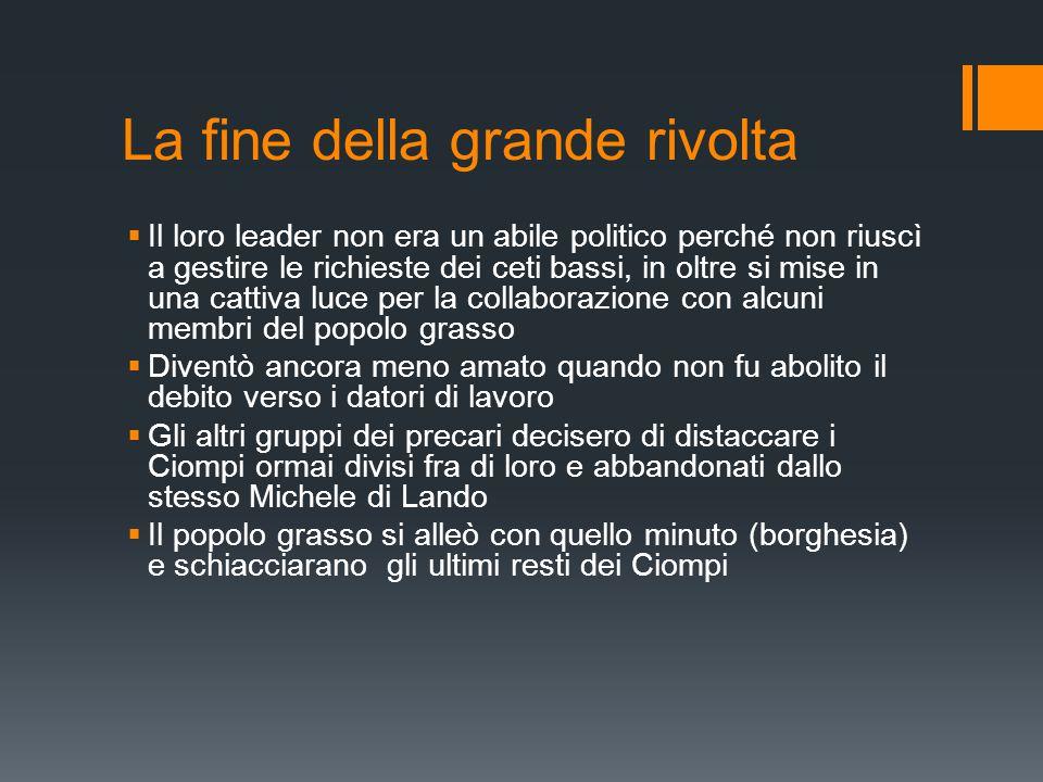 Fonti  http://it.wikipedia.org/wiki/Tumulto_dei_Ciompi (27.11.2014; 18:58) http://it.wikipedia.org/wiki/Tumulto_dei_Ciompi  http://www.postinifiorentini.it/tag/tumulto-dei-ciompi/ http://www.postinifiorentini.it/tag/tumulto-dei-ciompi/  http://upload.wikimedia.org/wikipedia/commons/e/e2/Michele _di_lando.JPG http://upload.wikimedia.org/wikipedia/commons/e/e2/Michele _di_lando.JPG  Massimo Fagioli (fonte orale)