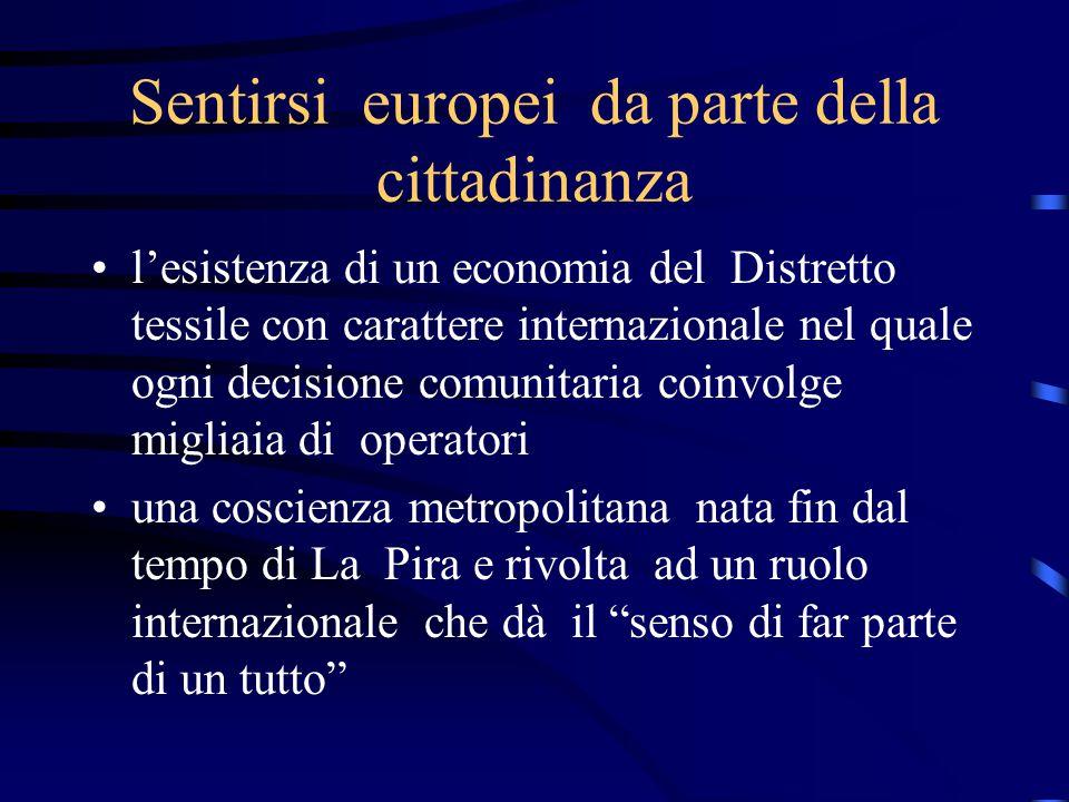 Aree commerciali e contenuti della comunicazione Rafforzamento del binomio Europa/qualità,come difesa dei propri prodotti contro la concorrenza soprattutto dei paesi asiatici Diffusione del concetto della produzione etica/sociale come specificità europea