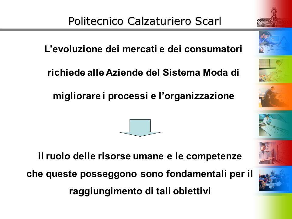 Politecnico Calzaturiero Scarl L'evoluzione dei mercati e dei consumatori richiede alle Aziende del Sistema Moda di migliorare i processi e l'organizz