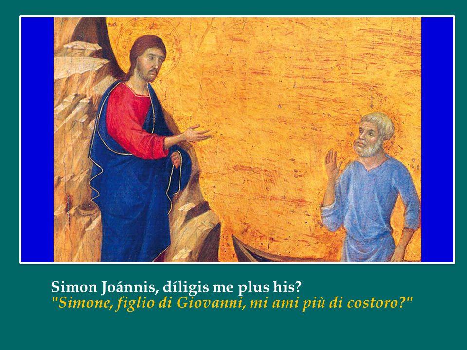 Simon Joánnis, díligis me plus his? Simone, figlio di Giovanni, mi ami più di costoro?