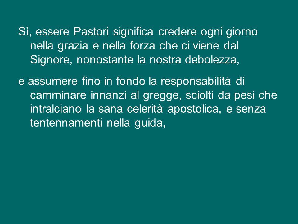 E Pietro purificato, nella sua prima Lettera ci esorta a pascere «il gregge di Dio [...], sorvegliandolo non perché costretti ma volentieri [...], non per vergognoso interesse, ma con animo generoso, non come padroni delle persone a noi affidate, ma facendoci modelli del gregge» (1Pt 5,2-3).
