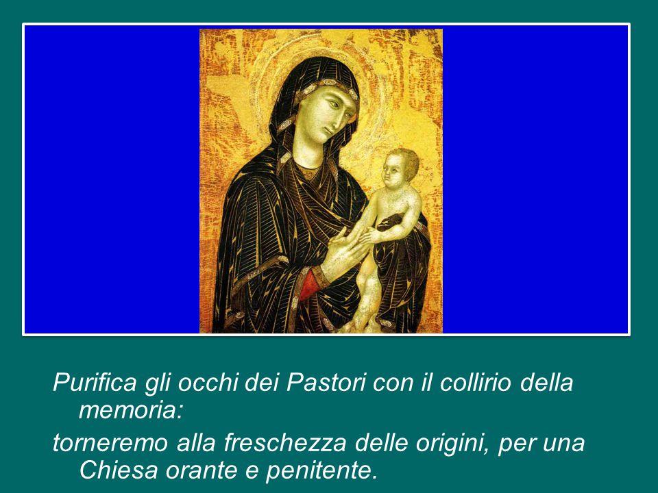 Madre del silenzio, che custodisce il mistero di Dio, liberaci dall idolatria del presente, a cui si condanna chi dimentica.
