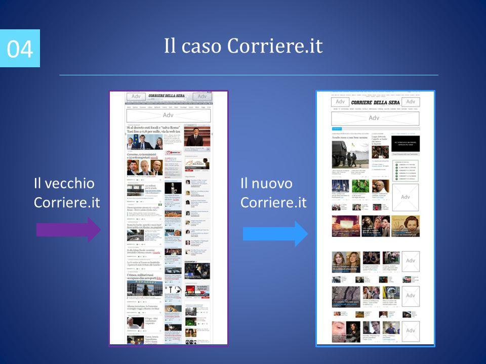 04 Il vecchio Corriere.it Il nuovo Corriere.it