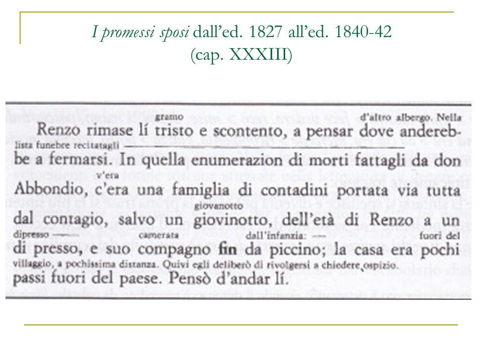I promessi sposi dall'ed. 1827 all'ed. 1840-42 (cap. XXXIII)
