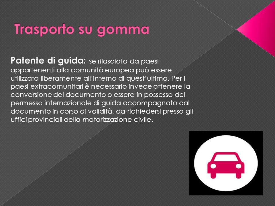 Patente di guida: se rilasciata da paesi appartenenti alla comunità europea può essere utilizzata liberamente all'interno di quest'ultima.