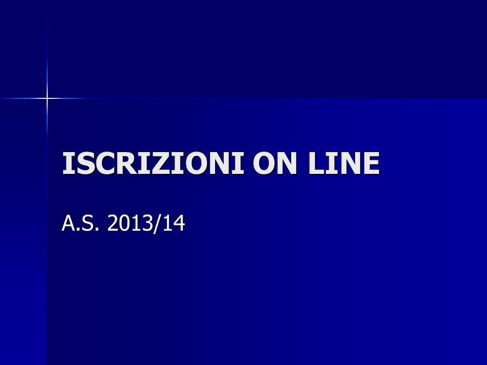 ISCRIZIONI ON LINE A.S. 2013/14