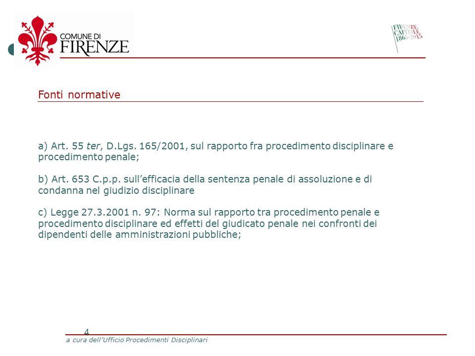 a cura dell'Ufficio Procedimenti Disciplinari 4 a) Art.