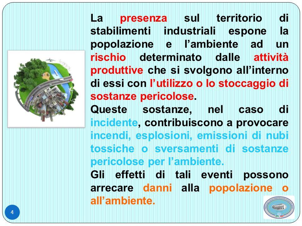 5 RISCHIO di INCIDENTE RILEVANTE, PIANO di EMERGENZA ESTERNO, INFORMATIVA ALLA POPOLAZIONE ………..
