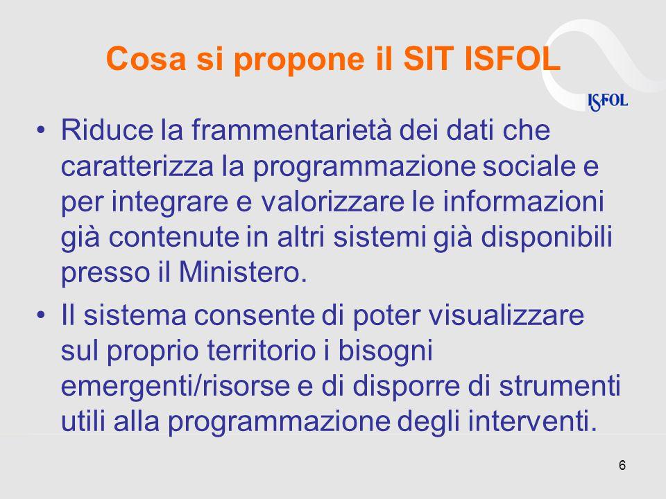 Riduce la frammentarietà dei dati che caratterizza la programmazione sociale e per integrare e valorizzare le informazioni già contenute in altri sistemi già disponibili presso il Ministero.