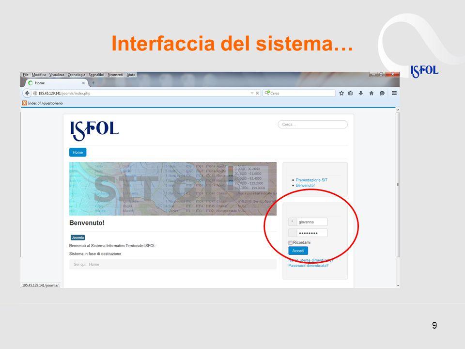 Interfaccia del sistema… 9