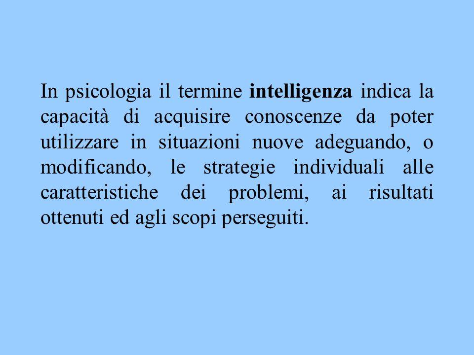 L'approccio cognitivista allo studio dell'intelligenza è rappresentato dal problem solving = processo mentale finalizzato a trovare il percorso che porta da una situazione iniziale ad una disposizione finale.