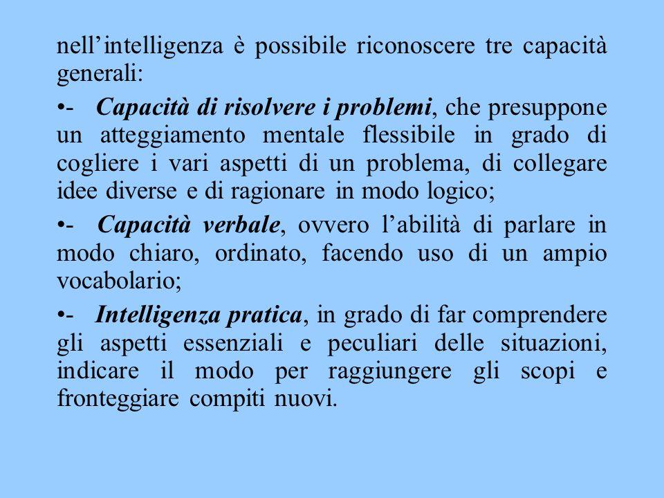 COME SI MISURA L'INTELLIGENZA Lo scopo principale dello studio dell'intelligenza in campo psicologico consiste nel misurare, e conseguentemente spiegare, le differenze individuali nelle capacità intellettive