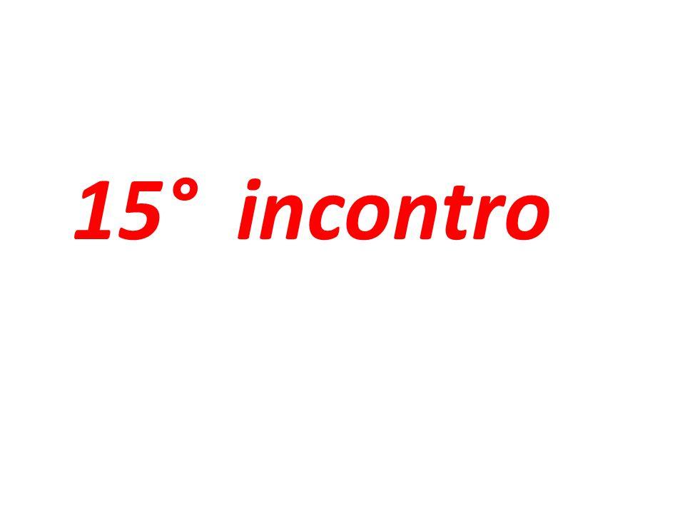 15° incontro