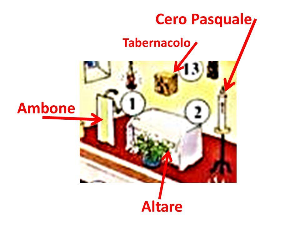 Ambone Altare Tabernacolo Cero Pasquale