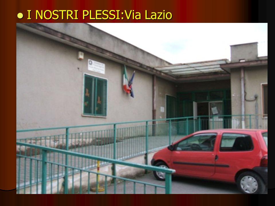 I NOSTRI PLESSI:Via Lazio I NOSTRI PLESSI:Via Lazio