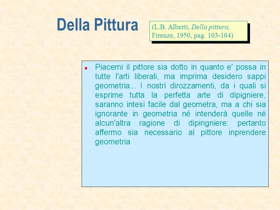 Della Pittura Piacemi il pittore sia dotto in quanto e possa in tutte l arti liberali, ma imprima desidero sappi geometria...
