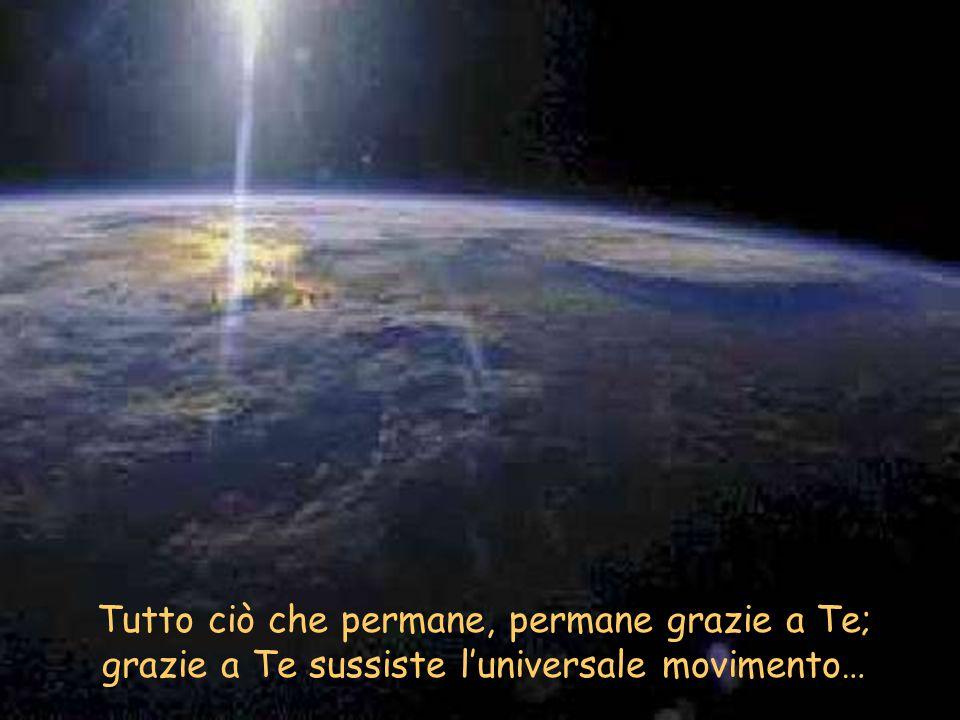Tutto ciò che permane, permane grazie a Te; grazie a Te sussiste l'universale movimento…