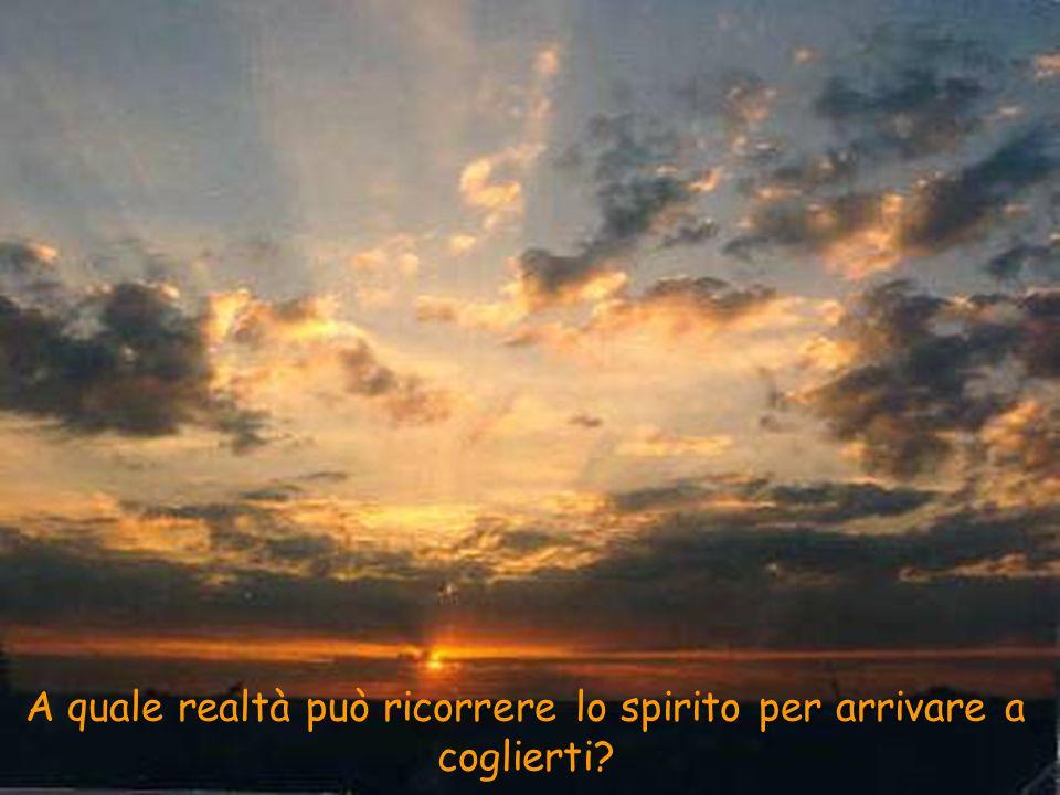 A quale realtà può ricorrere lo spirito per arrivare a coglierti