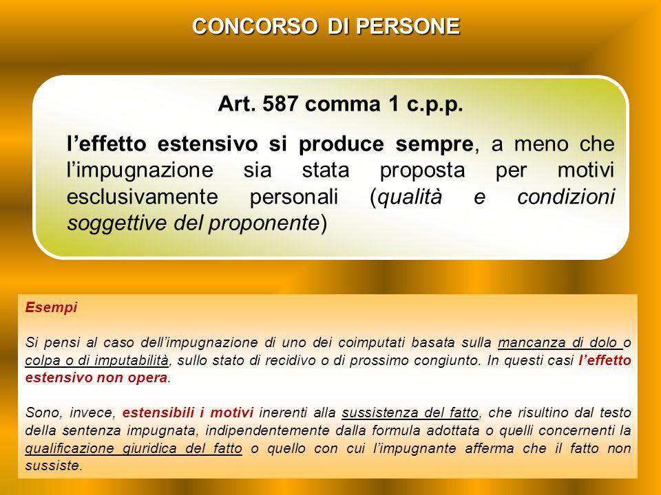 CONCORSO DI PERSONE Art. 587 comma 1 c.p.p.