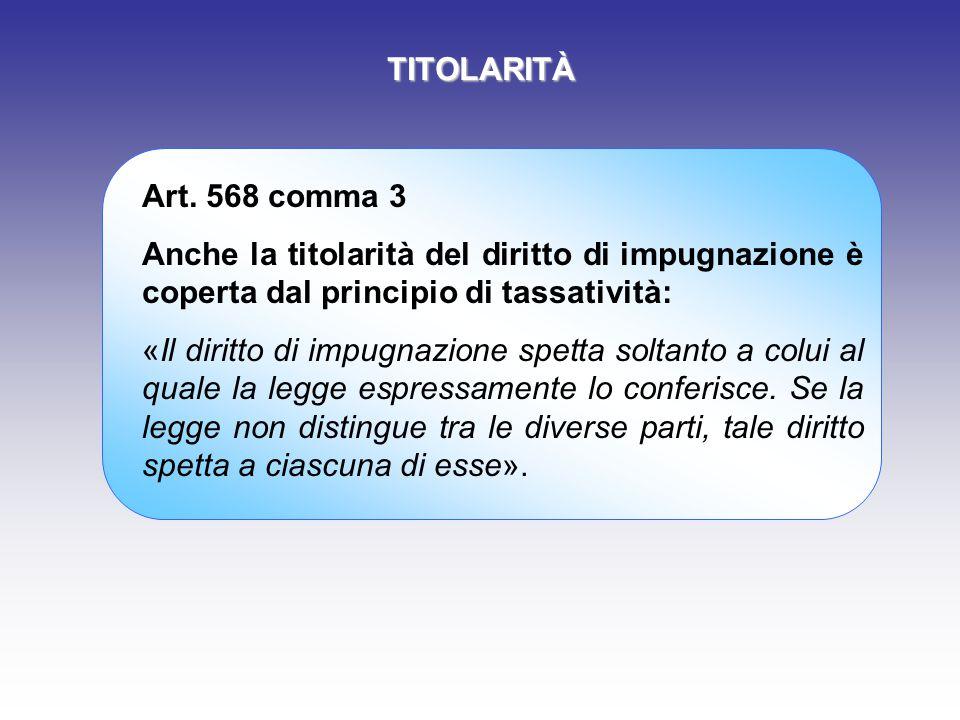 TITOLARITÀ Art.