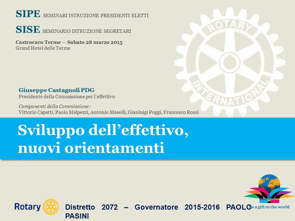 Sviluppo dell'effettivo, nuovi orientamenti Il Rotaract.