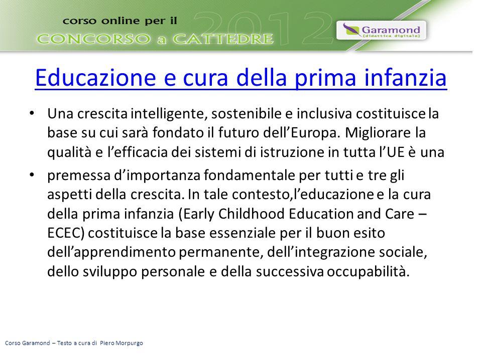 Educazione e cura della prima infanzia Una crescita intelligente, sostenibile e inclusiva costituisce la base su cui sarà fondato il futuro dell'Europ