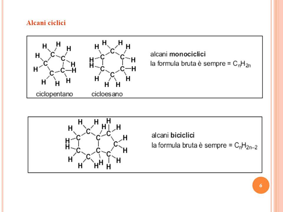 7 Due composti con la stessa formula bruta ma diversa formula di struttura si dicono isomeri strutturali.