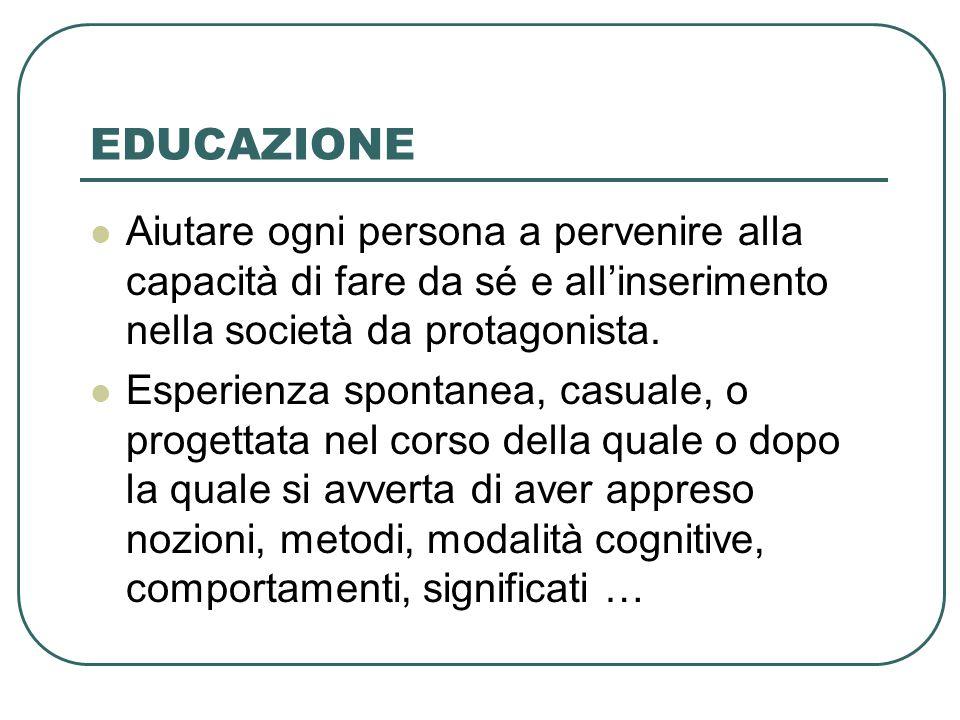 FATTORI DEL PROCESSO EDUCATIVO