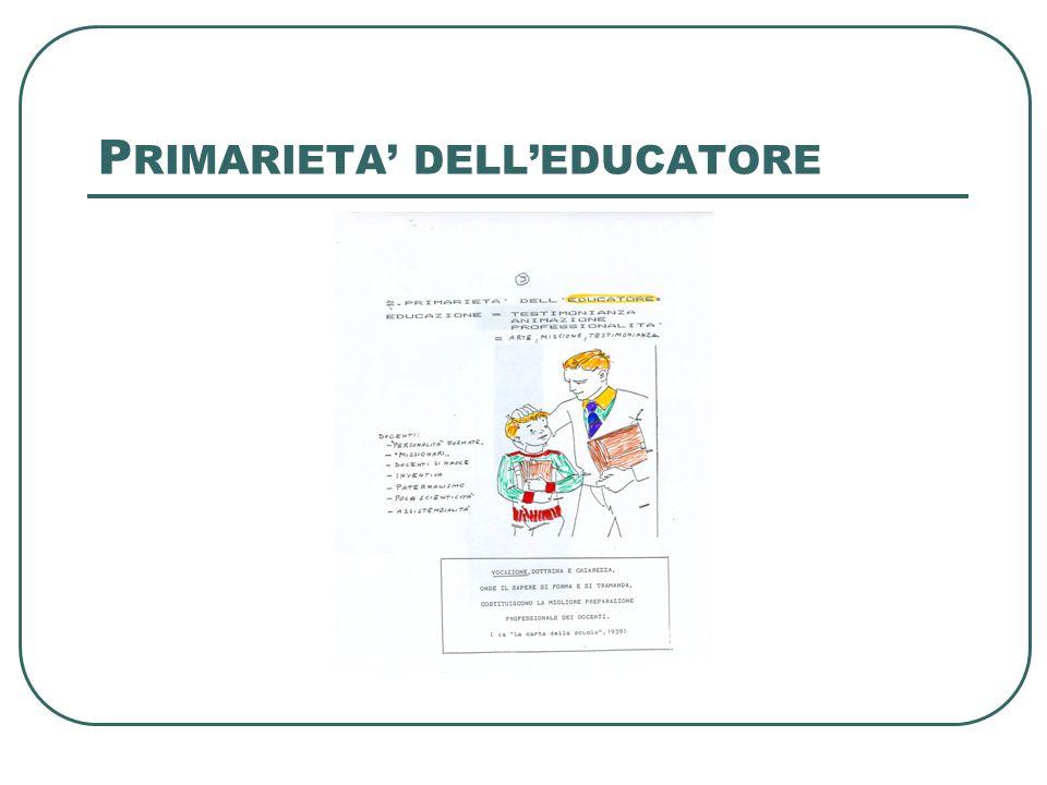 PRIMARIETA' DELL'EDUCANDO