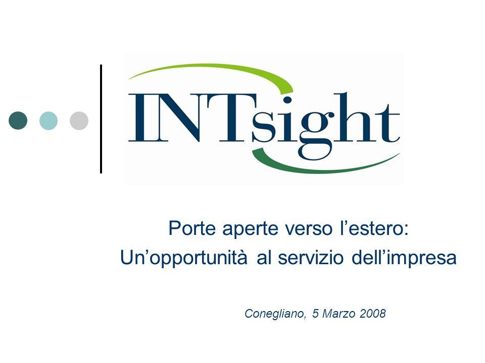 Porte aperte verso l'estero: Un'opportunità al servizio dell'impresa Conegliano, 5 Marzo 2008