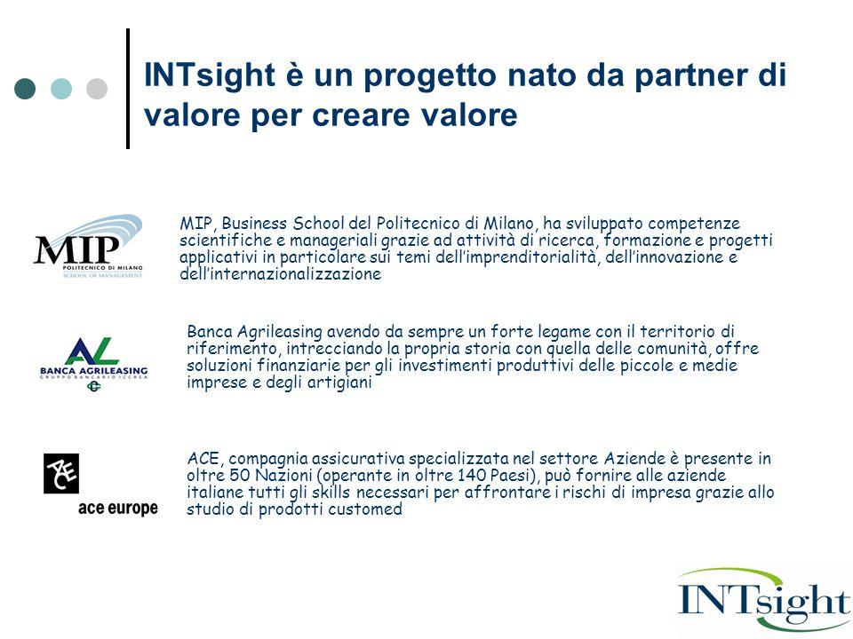 INTsight è un progetto nato da partner di valore per creare valore MIP, Business School del Politecnico di Milano, ha sviluppato competenze scientific