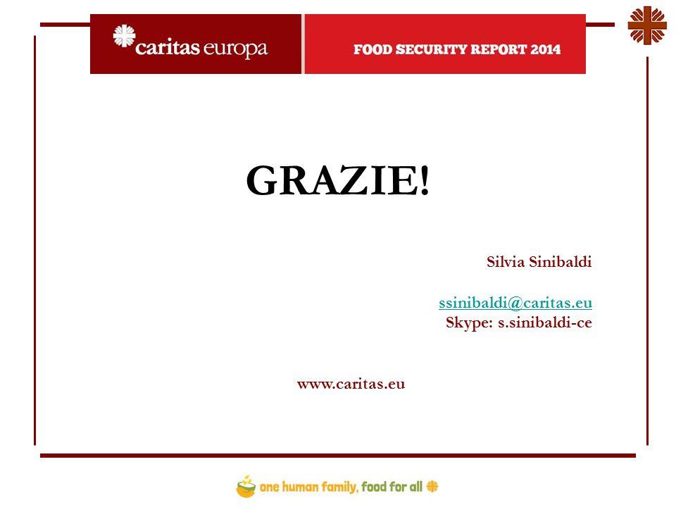 GRAZIE! Silvia Sinibaldi ssinibaldi@caritas.eu Skype: s.sinibaldi-ce www.caritas.eu