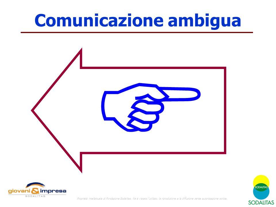 Comunicazione ambigua  Proprietà intellettuale di Fondazione Sodalitas.
