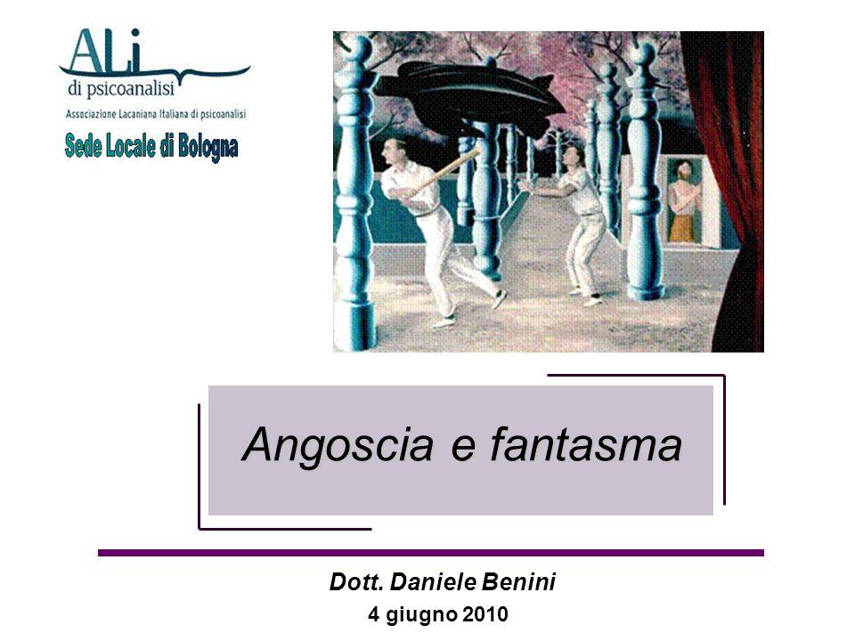 Angoscia e fantasma Angoscia e fantasma 4 giugno 2010 Dott. Daniele Benini